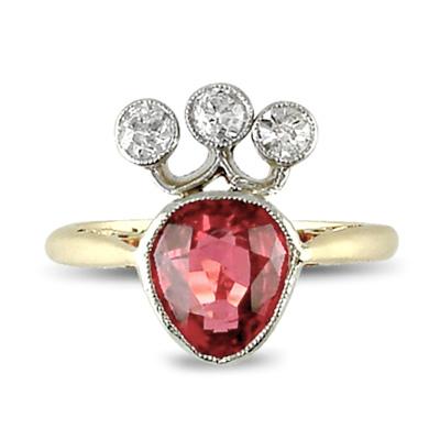 Bague Ancienne Diamant Des Années 1910 Pictures to pin on Pinterest